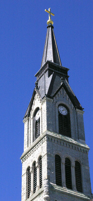 St. Peter the Apostle's steeple and bell tower