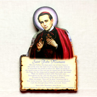 St. John Neumann easel with prayer