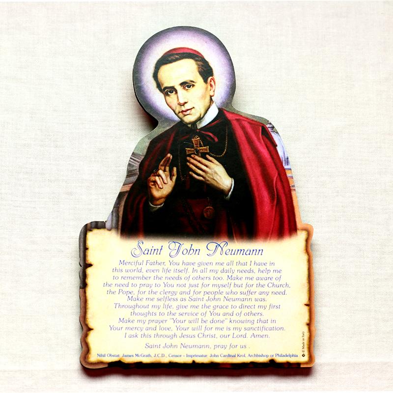 St. John Neumann easel with prayer