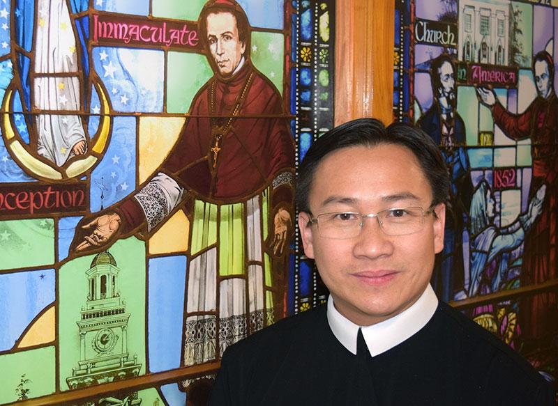 Image result for Cha Trần Đức Hùng, CSsr, ở Đền Thánh Gioan Neumann Philadelphia Pennsylvania